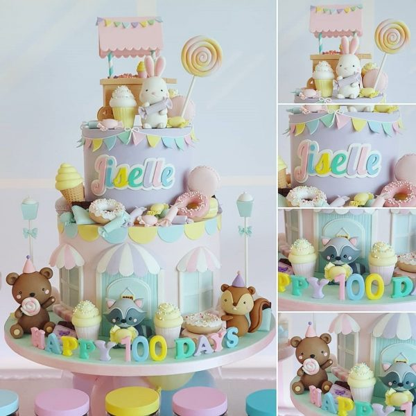 My candy land cake kids birthday party cake dubai