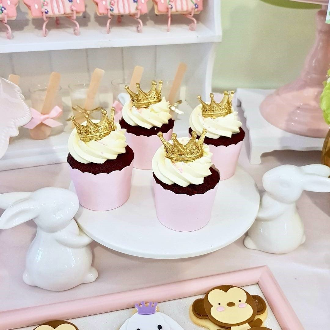 Little Gold Crown Cupcake kids' birthday party dubai