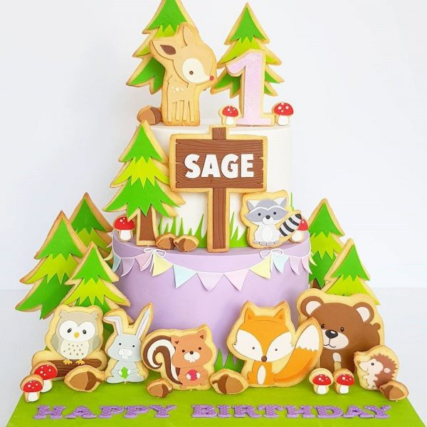 The Woodland Fairytale Cake Celebrate kids' birthday event Dubai