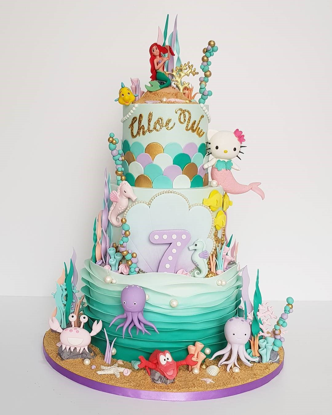 Mermaid Cake - Big - Cake for Kids' Birthday event dubai