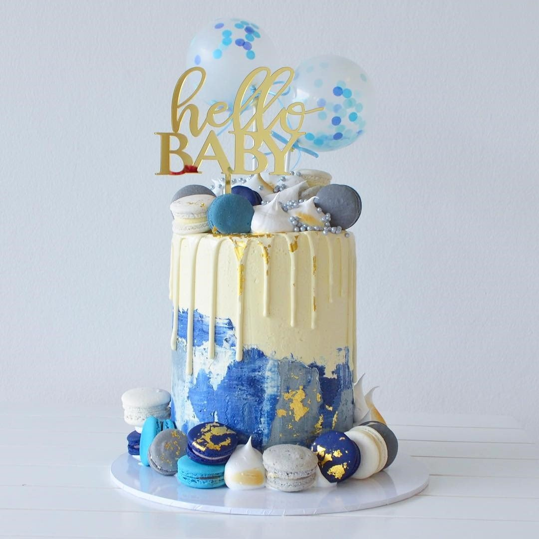White and Blue Cake best selling birthday cake dubai