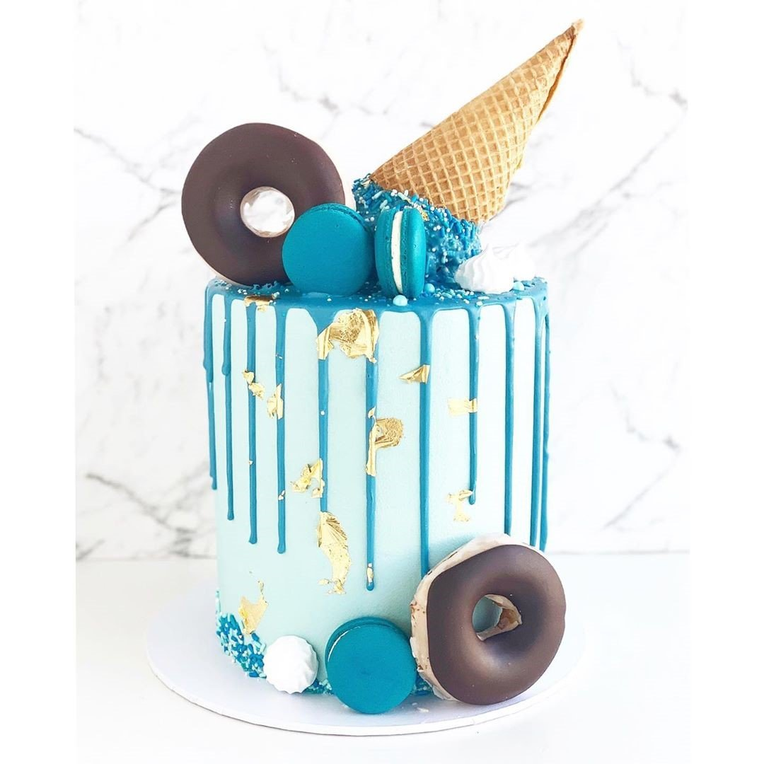 Blue Cone Cake celebrate birthday event dubai
