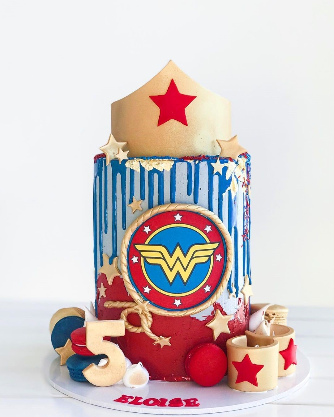 Wonder Woman Cake celebrate birthday events in Dubai