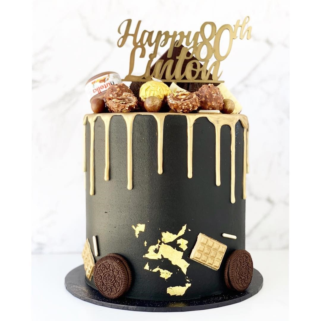Black Gold Cake - 3 - Celebrate Birthday with Delicious cake dubai
