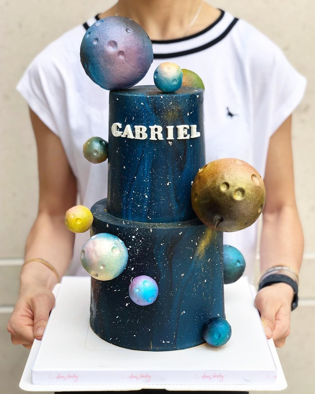 Two Tier Planet Cake buy online cake for mens in Dubai