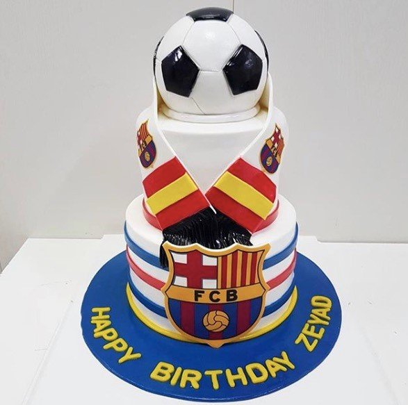 Barcelona Fan Cake Celebrate Mens events in Dubai