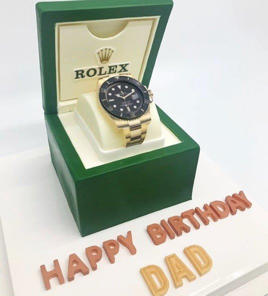 Rolex Cake celebrate birthday cake for mens in Dubai