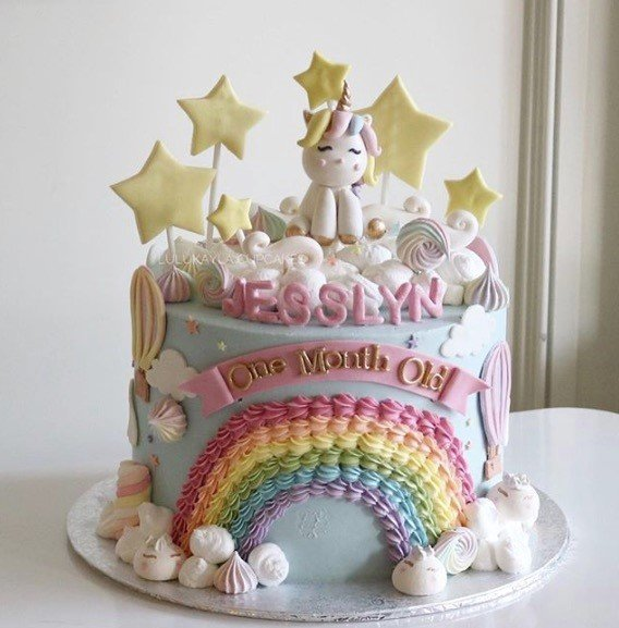 Unicorn Rainbow Cream cake - 2