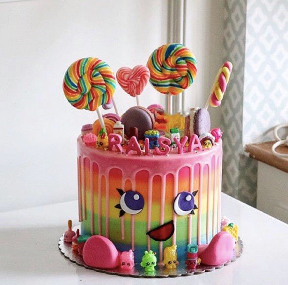 Candy Fantasy Cream Cake - Kids' Party Cake Dubai